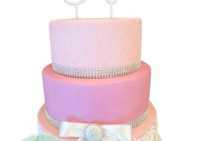 3 Layer Fondant Cake 1