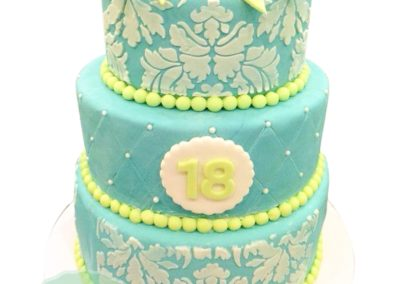 3 Layer Fondant Cake 2