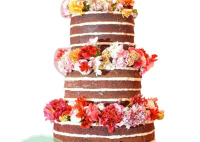 Naked 4 Layer Fondant Cake