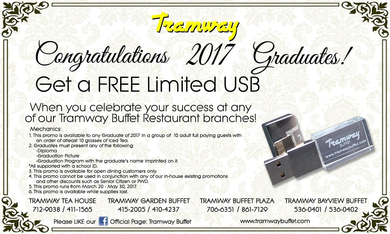 Tramway Graduates 2017 Free USB