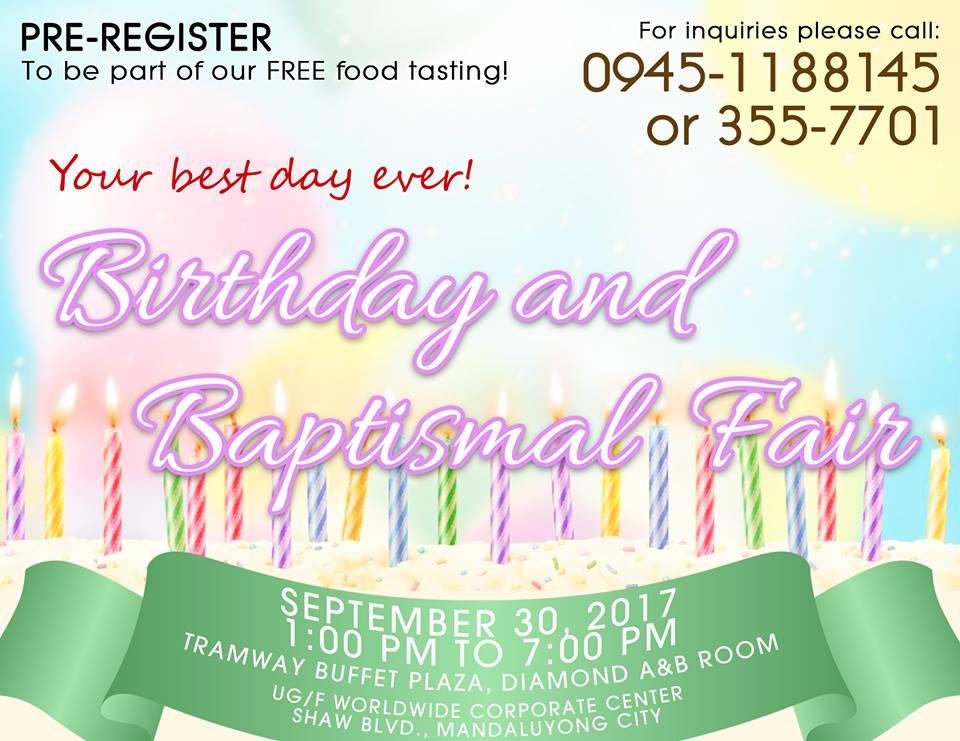 Birthday and Baptismal Fair