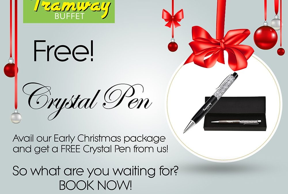 Early Christmas package, Free Crystal Pen
